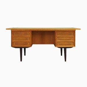 Vintage Danish Ash Veneer Desk, 1970s