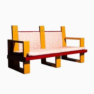Vintage 2-Sitzer Sofa mit Holzrahmen von Frans Merkus, 1970er