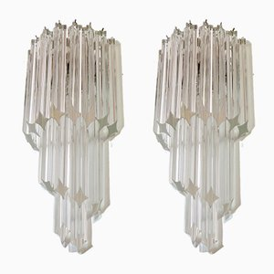 Vintage Italian Murano Glass Sconces, 1984, Set of 2