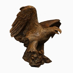 Large Bronze Eagle Sculpture by Mogens Bøggild, 1950s