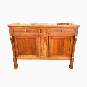 Antique 19th-Century Empire Italian Walnut Sideboard