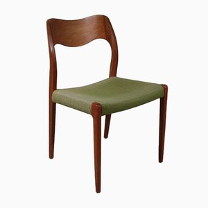 Danish Fabric and Teak Dining Chair from J.L. Møllers, 1950s