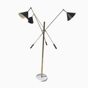 Italienische Vintage Metall Stehlampe von Stilnovo, 1980er