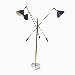 Vintage Italian Metal Floor Lamp from Stilnovo, 1980s