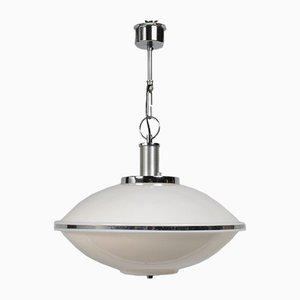 Vintage Italian Metal and Perspex Ceiling Lamp, 1970s