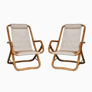 Chaises de Plage Inclinables, Italie, 1960s, Set de 2