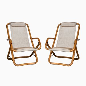 Italian Reclining Deck Chairs, 1960s, Set of 2