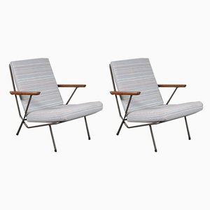 Fabric and Metal Lounge Chairs by Koene Oberman for De Ster Gelderland, 1950s, Set of 2