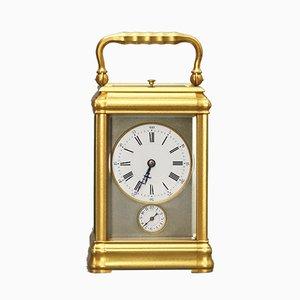 Antike französische Uhr aus Messing & Glas von LeRoy & Fils