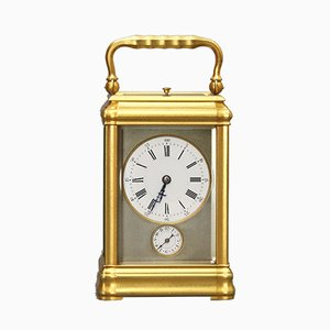 Antique French Brass and Glass Clock from LeRoy & Fils