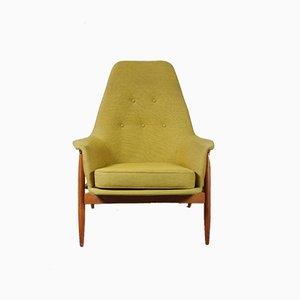 Sessel aus Birkenholz von J. van Gunteren für De Ster Gelderland, 1950er