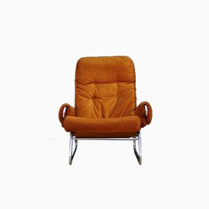 Dänischer Mid-Century Sessel aus Stoff & Stahl, 1960er
