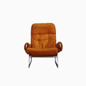 Mid-Century Danish Fabric and Steel Armchair, 1960s
