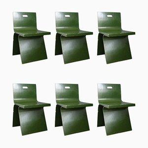 Italienische Esszimmerstühle aus Holz von Gigi Sabadin, 1970er, 6er Set