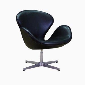 Dänischer Armlehnstuhl aus Leder von Arne Jacobsen für Fritz Hansen, 1982