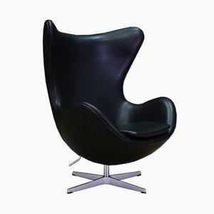 Dänischer Armlehnstuhl aus Leder von Arne Jacobsen für Fritz Hansen, 2007