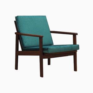 Vintage Danish Fabric Armchair, 1970s