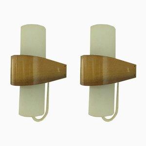 Skandinavische moderne Wandlampen von Louis C. Kalff für Philips, 1950er, 2er Set