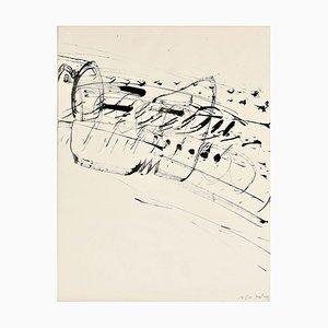 Dessin à l'Encre sur Papier par K.R.H. Sonderborg, 1960s
