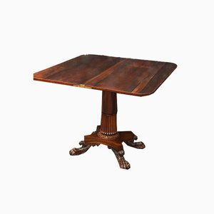Antique William IV Rosewood Tea Table