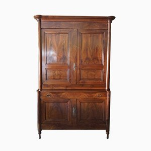 Antique 19th Century French Empire Walnut Cupboard