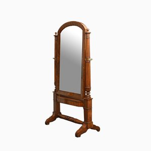 Antique Continental Olivewood Mirror