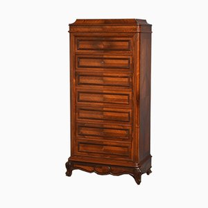 Antique French Rosewood Chest of Drawers with Secretaire