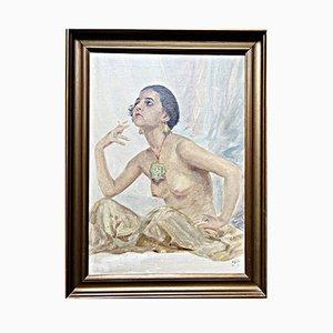 Smoking Nude von Hugo V. Pedersen, 1920er