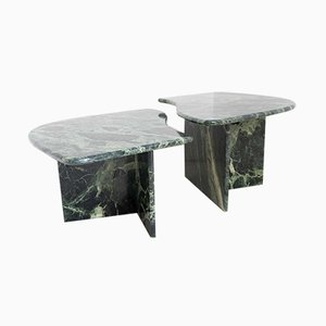 Tables Basses Vintage en Marbre, Set de 2
