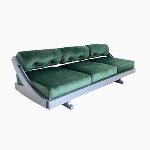Italian MDF and Velvet GS195 Sofa Bed by Gianni Songia, 1960s