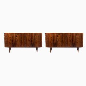 Dänische Sideboards aus Palisander und Furnier von Carlo Jensen für Hundevad & Co., 1960er, 2er Set