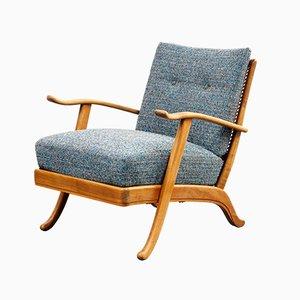 Mid-Century Cherry & Cane Armchair, 1950s