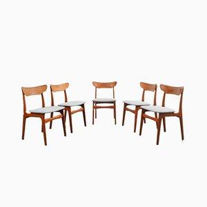 Chaises de Salle à Manger par Schiønning & Elgaard pour Randers Møbelfabrik, Danemark, 1960s, Set de 5