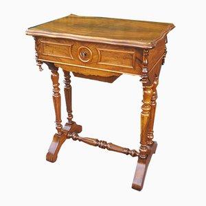 Table Basse Louis Philippe Antique en Noyer, France, 19ème Siècle