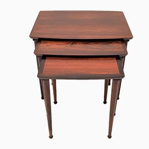 Danish Rosewood Nesting Tables from Møbelintarsia, 1960s