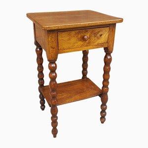 Antiker französischer Nachttisch aus Walnussholz, 19. Jh.