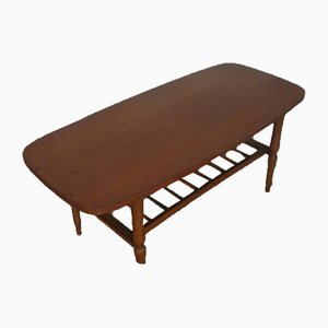 Mid-Century Italian Beech and Pagwood Coffee Table, 1950s