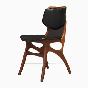 Mid-Century Danish Fabric and Teak Dining Chair, 1960s