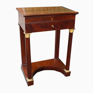 Table Basse Empire Antique en Acajou, France, 19ème Siècle