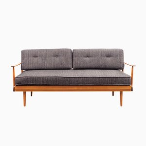 German Cherry and Fabric Daybed from Walter Knoll / Wilhelm Knoll, 1960s