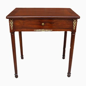 Antique 19th Century French Empire Walnut Console Table