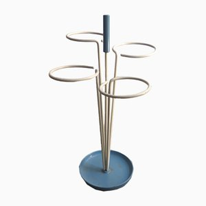 Lacquered Metal Umbrella Stand, 1950s