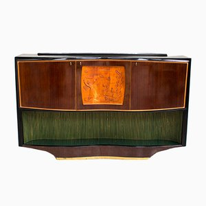 Italian Bar Cabinet by Vittorio Dassi for La Permanente Mobili Cantù, 1950s