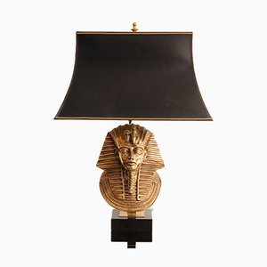 Tischlampe aus Messing & Seide von Maison Jansen, 1960er