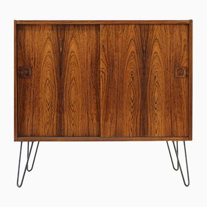 Mid-Century Danish Upcycled Iron and Palisander Cabinet, 1960s