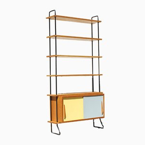 Mid-Century Steel and Wood Shelf, 1950s