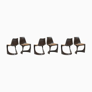 Vintage Model 291 Stacking Chairs by Steen Østergaard for Cado, Set of 6