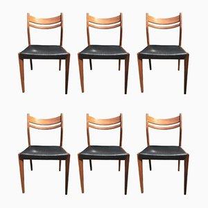 Italienische Esszimmerstühle von Consorzio Sedie Friuli, 1960er, 6er Set