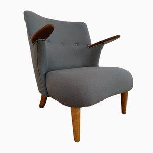 Dänischer Vintage Sessel mit Gestell aus Eiche & Teak, 1950er