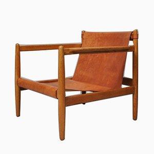 Moderner Oresund Bra-Bohag Sessel mit Lederbespannung & Gestell aus Eiche von Børge Mogensen für Karl Andersson & Söner, 1959